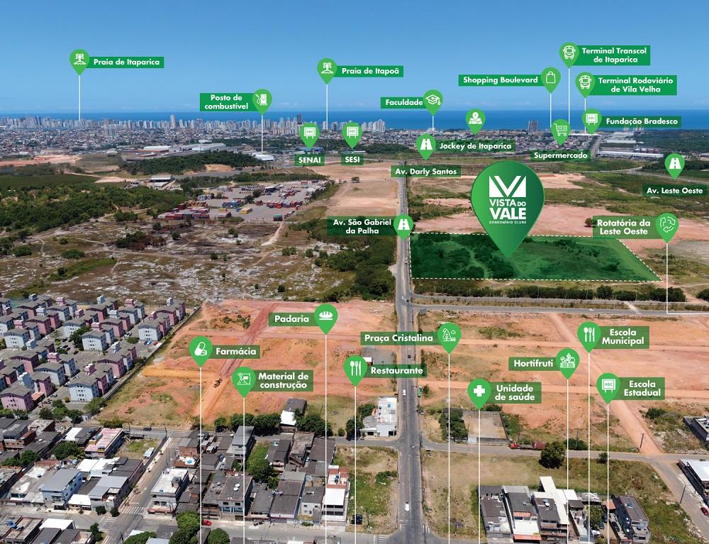 Fotoimplantação do novo Vista do Vale, em Vale Encantado, Vila Velha
